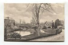 Eardisland - River Arrow, nearby houses & bridge - old Herefordshire postcard