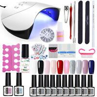 LEMOOC Gellack Nagel Kit Soak Off UV Gel Nagellack 36W UV/LED Lamp Dryer Tool