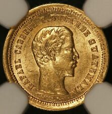 1860-R Guatemala 4 Reales Gold Coin - NGC MS 63 - KM# 135