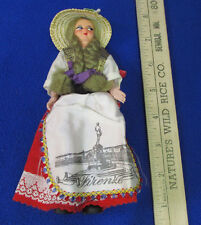 "Vintage Eros 6"" Souvenir Folk Doll From Florence Italy Plastic Movable Arms"