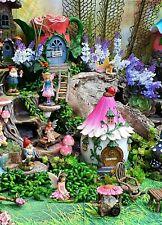 Flower tea cart. Fairy Garden Accessories. Fairies