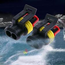 10 X 2 Pin Way Car Auto Waterproof Electrical Connector Plug Socket Wire Kit New