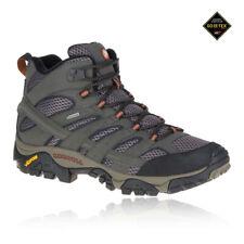 Merrell Hombre Gris Moab 2 Mid Gore-Tex Caminar Sendero Botas Zapatos Calzado