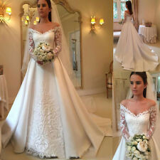 Lace Long Sleeve Wedding Dresses Bridal Wedding Gowns Vestido De Novia Custom