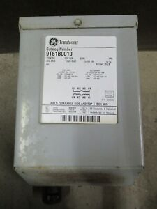 1 KVA GE 9T51B0010 TYPE QB ENCAPSULATED TRANSFORMER 480 X 240 VAC 240 / 120 V