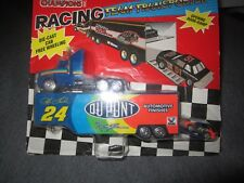 1995 Racing Champions JEFF GORDON NASCAR Car  MINI & Semi Trailor