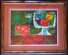 "Sunol Alvar ""Fruit Still Life"" Framed Limited Edition Lithograph Hand Signed"