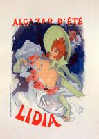 l'Alcazar d'Été, Lidia by Jules Cheret 90cm x 64cm Art Paper Print