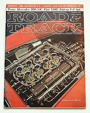 Road & Track Mag. March 1963 Mercedes 300-SE, Fiat 1100, Maserati 4.5 liter V-8