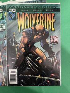Wolverine #20 21 22 23 24 25 Millar Romita Jr Enemy Of The State X-Men Newsstand