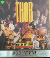 Thor Live In Detroit Vinyl UK 1985 Raw Power 1st Press A1/B1 Heavy Rock LP EX+
