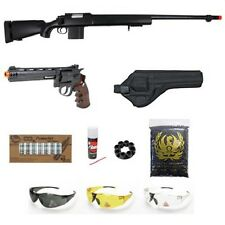WELL Bolt Action Sniper Airsoft Rifle WG Airsoft CO2 Revolver