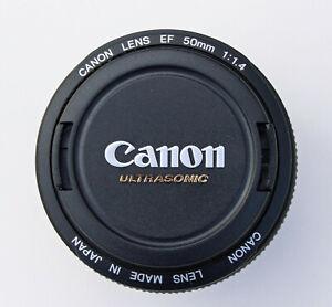 CANON EF 50mm F1.4 USM PRIME LENS – Excellent – w/ UV filter & caps –for 80D t8i