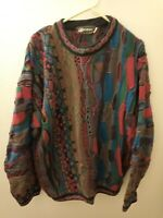 Men's Tundra Coogi Style 3D Knit Vintage Sweater Canada Large