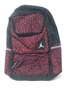 Air Jordan Mens Jumpman Elephant Laptop Backpack Red Black Adjustable Strap New