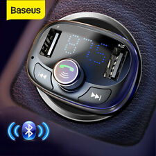 Baseus Car Bluetooth FM Transmitter Adapter USB Handsfree MP3 Player Charger