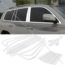 For 2008-19 Toyota Land Cruiser LC200 Chrome Stainless Window Molding Trim Cover