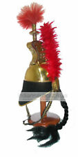 Brass French Cuirassier Officer's Helmet Napoleon Style Helmet With Wooden Stand