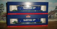 BACHMANN 37-309 OO GAUGE INTERMODAL BOGIE WAGONS & SAMSKIP CONTAINERS NEW UNUSED
