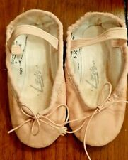 Leo's Pink Leather Used Girls Ballet Shoes, 065 PINK, Size 6 1/2 E