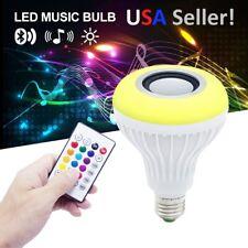 RGB LED Light Bulb E27 12W Wireless Bluetooth Speaker Music Audio Lamp Remote