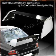 For 2002-2007 Mitsubishi Lancer EVO 7 8 9 Carbon Fiber Rear Trunk Spoiler Wing