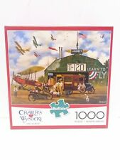 """CHARLES WYSOCKI 1000 PIECE PUZZLE """"HERO WORSHIP""""  PRE-OWNED COMPLETE"""