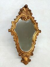 Vintage Carved Gilt Gold Wood Mirror Art Nouveau Roccoco Style