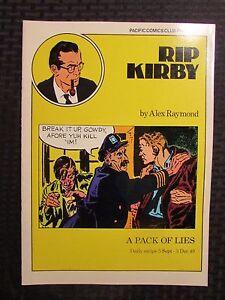 1980 RIP KIRBY A PAck of Lies #12 VF 8.0 Pacific Comics Club Alex Raymond