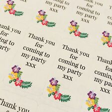 12 thank you for coming to My Party  stickers Favour birthday Baby Shower