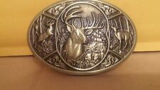DEER HUNTING WHITETAIL BUCK BELT BUCKLE NEW GOLD COLOR