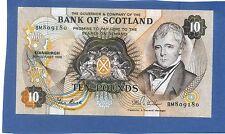 Scottish Bank Of Scotland 10 lb (environ 4.54 kg) billet 1986