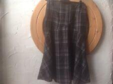 👀Principles🍂UK 10(EU 38) Country Chic Wool Blend  brown Check Skirt-RRP £45