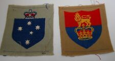 AUSTRALIAN  military forces & Headquarters vintage cloth formation patches  lotA