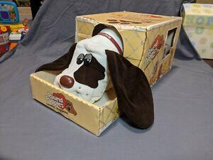 Vintage 1985 Pound Puppies Puppy In Original Box With Collar EUC