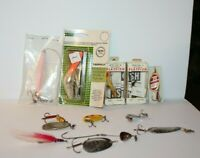 Lot of 12 Fishing Lures Flatfish Mepps Taddpolly & More