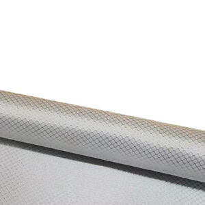 1K Plating Silver Glass Fiber Small Rhombus Jacquard Carbon Fiber Cloth 50*100cm