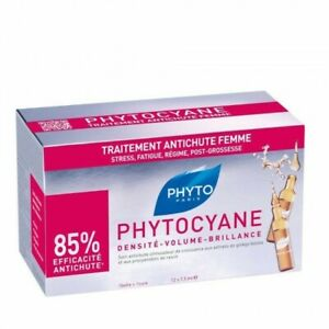 PHYTO PHYTOCYANE Thinning Hair-Women due to Stress,Fatigue,Pregnancy 12 Vials