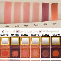 Face Contour Blusher GUICAMI Brighten Skin Long-lasting Waterproof Shimmer Rouge