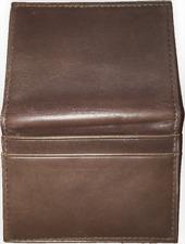 Tommy Hilfiger Men's Dark Brown Leather Card Holder Case Wallet.