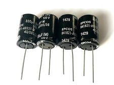 330uF, 330µF, 100V, 85°, 20%, RM7,5, Elko, Epcos B41821-A9337-M, D=16mm, 4 Stück