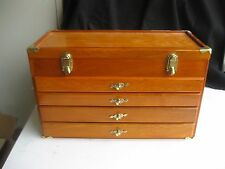 Chest Style Wood Jewelry Box 4 drawer/ opening top storage Tabletop Cabinet