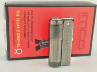 IMCO Super Triplex mit Logo neu ovp Gun Metall Feuerzeug Box