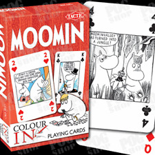 NEW SEALED Tactic MOOMINS COLOUR-IN Playing Cards Colouring