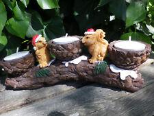 Teelicht Teelichthalter Kerzenhalter 3 fach Zweig mit Eichhörnchen