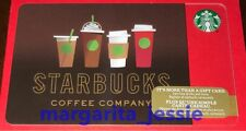 """STARBUCKS CANADA SERIES HOLIDAY 2016 GIFT CARD """"DRINK LINE-UP"""" NEW NO VALUE 6128"""