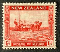 New Zealand. Six Pence Stamp. SG564. 1935. Lightly Mounted.  #AH287