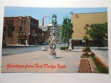 Old Postcard, GRETINGS FROM FORT DODGE, IOWA