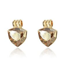 Sparkly Stylish Champagne Gold Made With Swarovski Crystal Stud Earring Jewelry