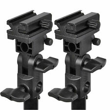 2PCS Adjustable Hot Shoe Mount B Umbrella Holder Photo Swivel Flash Bracket NEW